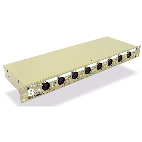 Radial OX8-j 8 channel mic splitter with Jensen isolation transformers, D-subs & XLRs