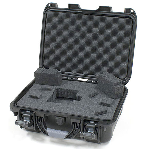 Gator GU-1309-03-WPDF Black Waterproof Injection molded case, DICED FOAM