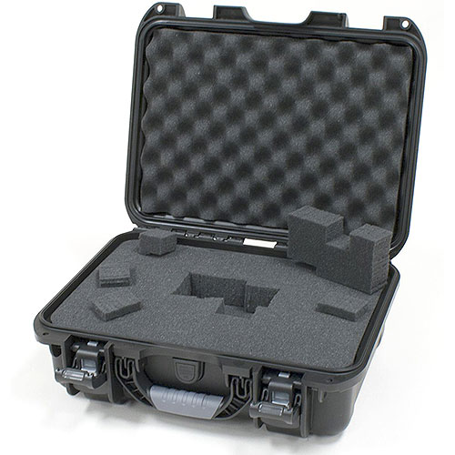 Gator GU-1510-06-WPDF Black waterproof injection molded case, DICED FOAM