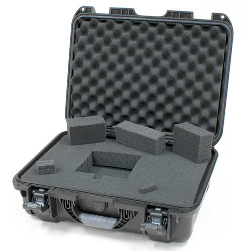 Gator GU-1711-06-WPDF Black waterproof injection molded case, DICED FOAM