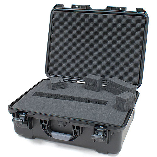 Gator GU-2014-08-WPDF Black waterproof injection molded case, DICED FOAM