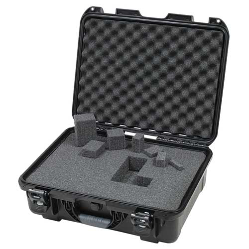 Gator GU-1813-06-WPDF Black waterproof injection molded case, DICED FOAM