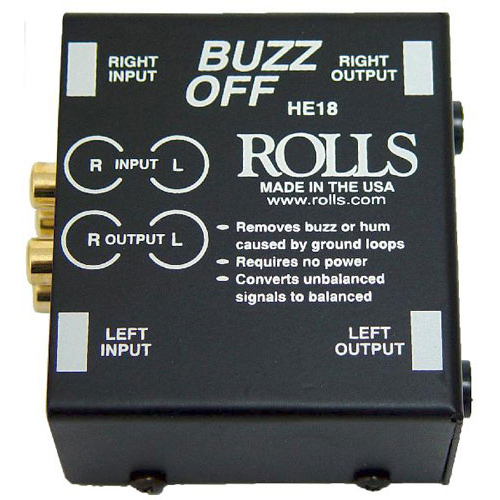 Rolls HE18 BUZZ OFF 2-Channel Hum Eliminator