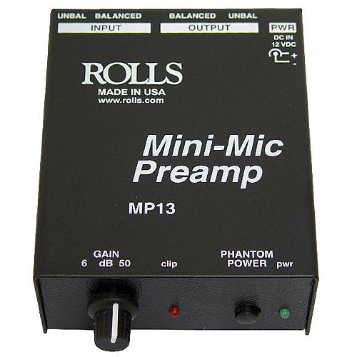 Rolls MP13 Single Mic Preamp