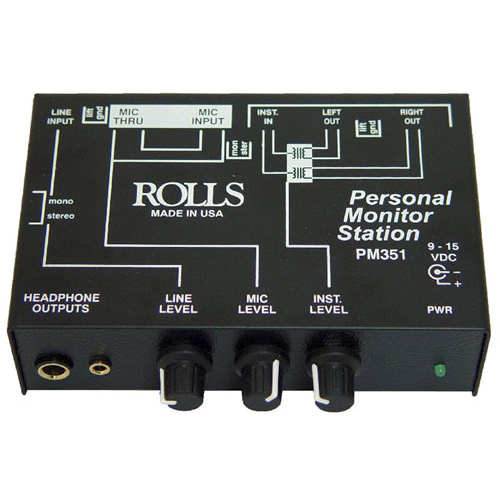 Rolls PM351 Personal In-Ear Monitor Station