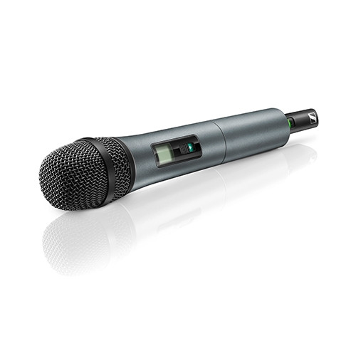 Sennheiser SKM 825-XSW-A Handheld transmitter equipped with e825 cardioid dynamic capsule & mute switch, frequency range: A (548-572 MHz)