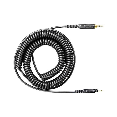 Shure HPACA1 Replacement coiled headphone cable assembly for SRH440, SRH750DJ, SRH840, SRH940