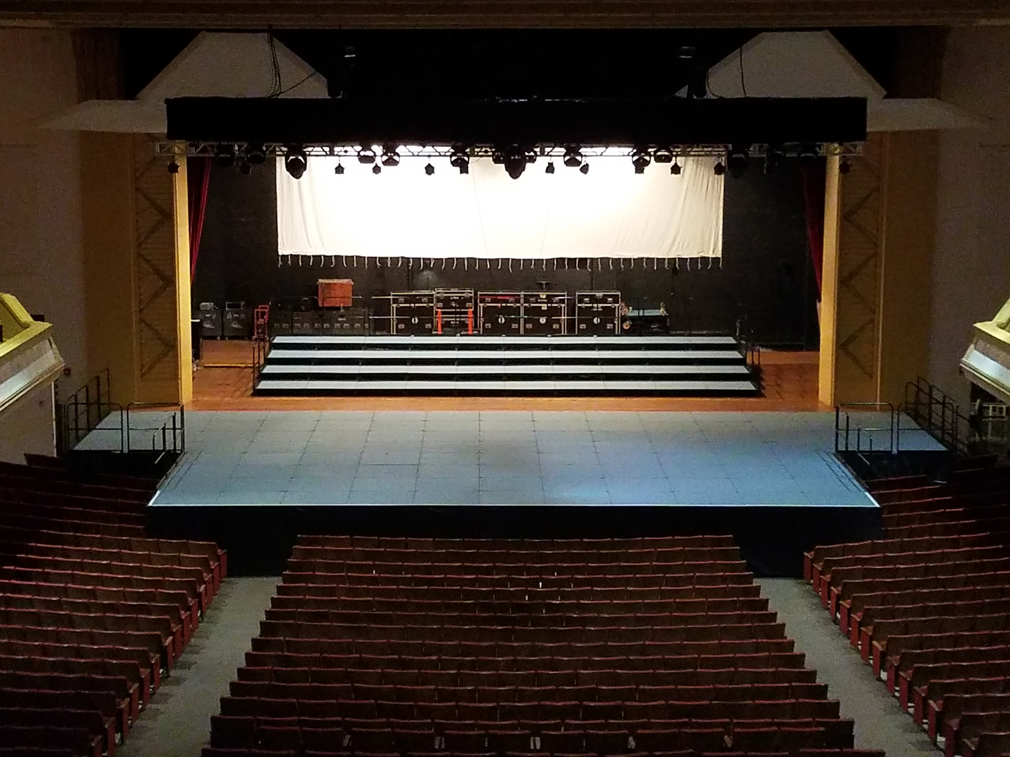 Thomas Wolfe Auditorium Stage empty