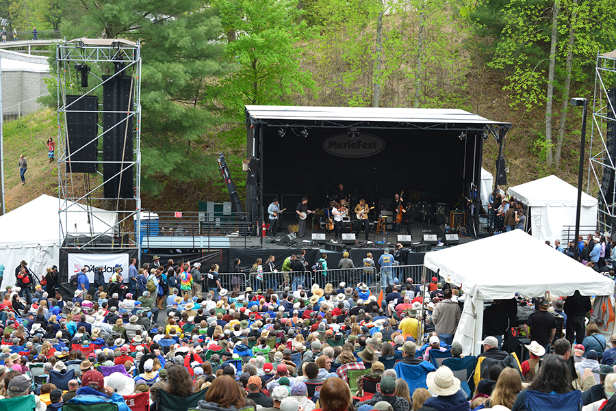 MerleFest Album Hour Staging