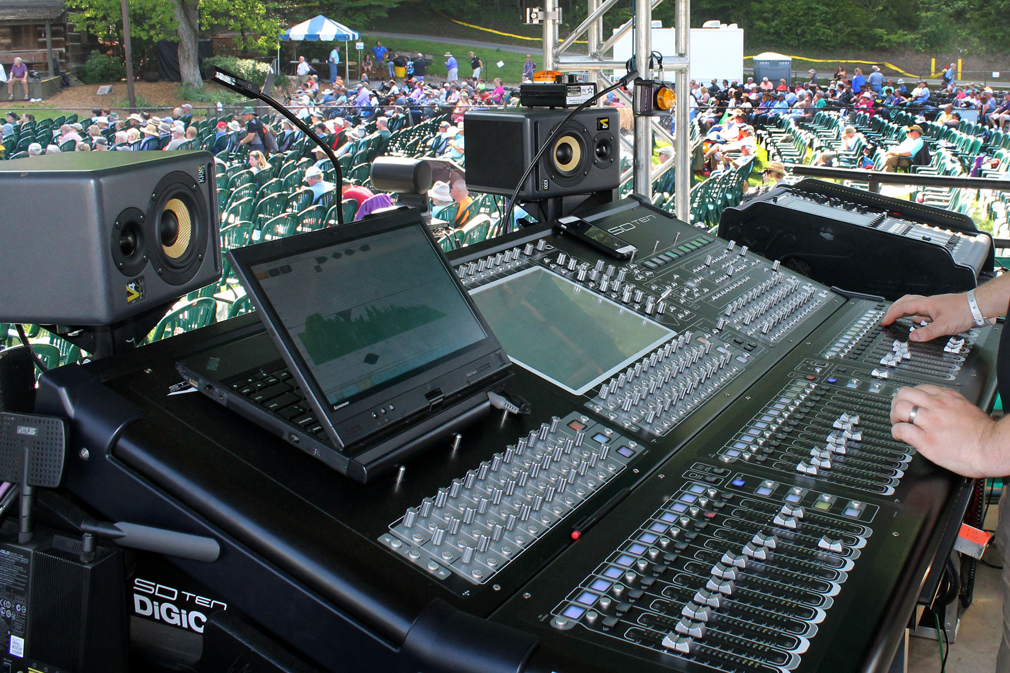 Digico SD10-36 at FOH Watson Stage