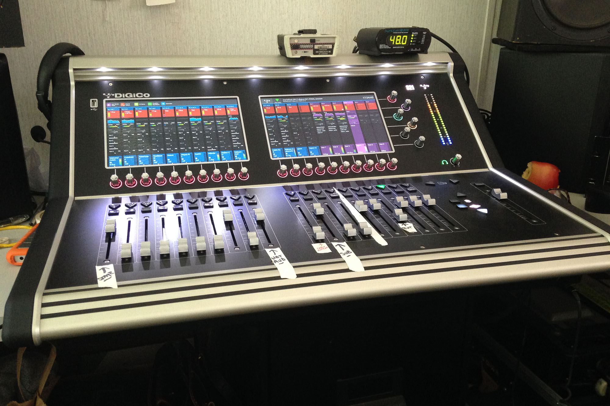 Digico S21 in the Recording Booth
