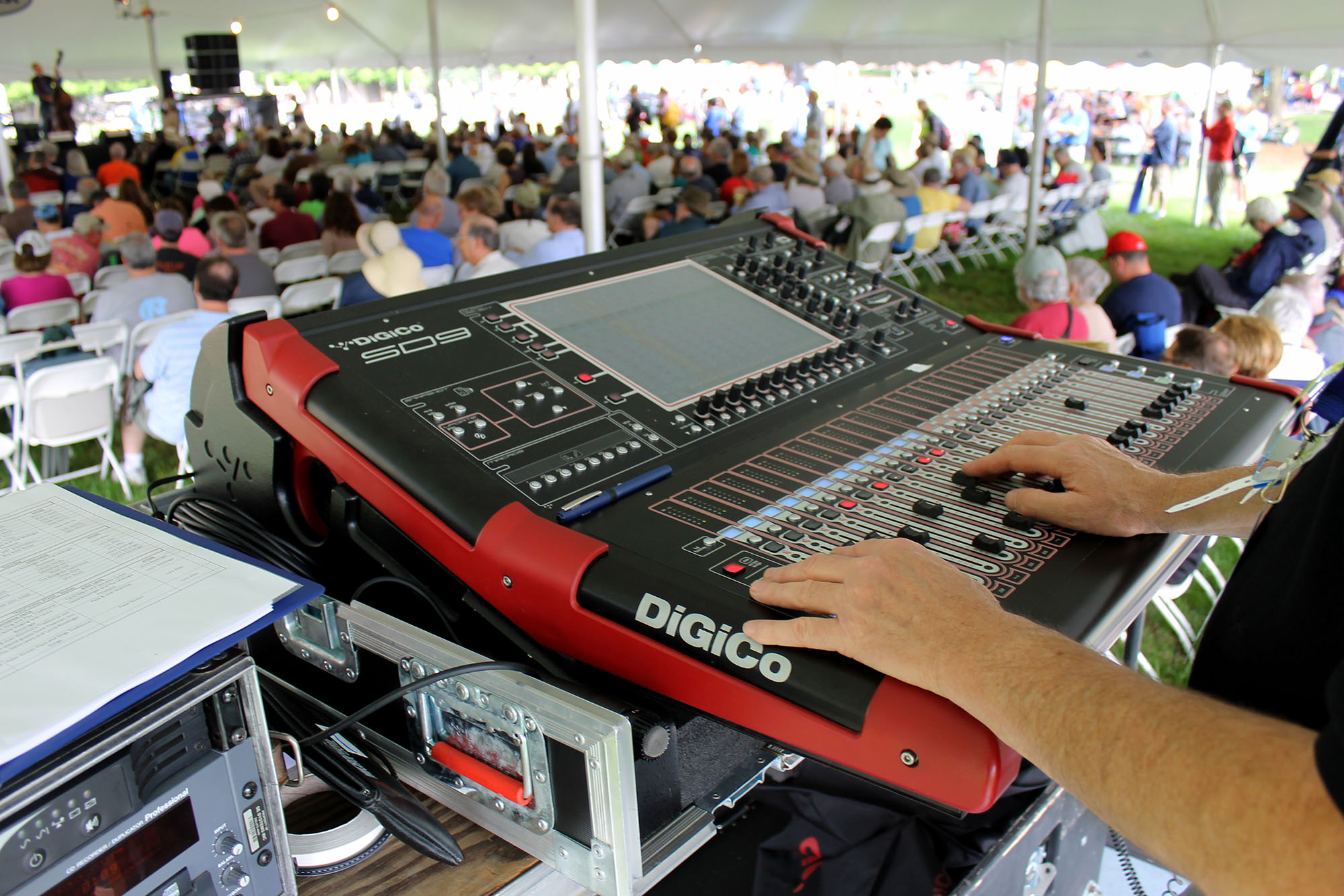 Digico SD9 at FOH Traditional Stage